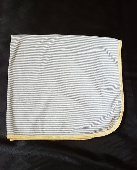 Gray Striped Blanket