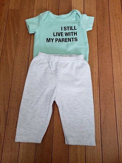 0-3 month I Still Live With My Parents Outfit