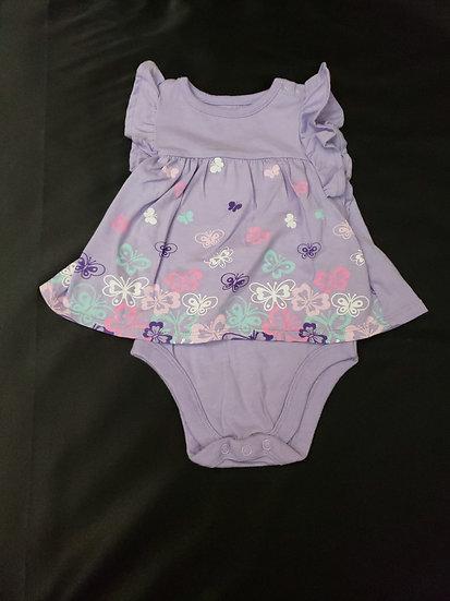 3-6 month Garanimals Purple Butterfly Dress