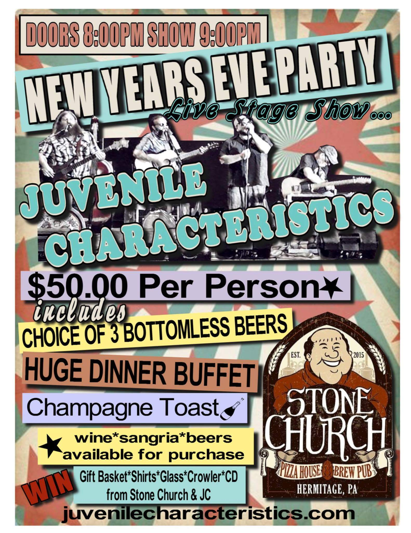 New Year's @ Stone Church 12/31/17