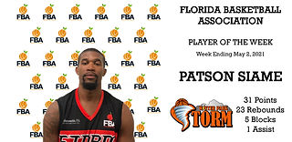 5.1.21 PATSON SIAME PLAYER OF THE WEEK W