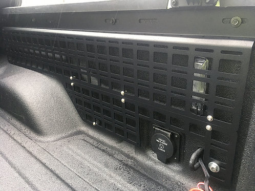 813 Fabrication & Design Full Bed Side MOLLE Panels with Cutout Lower Panel for Bed Outlet