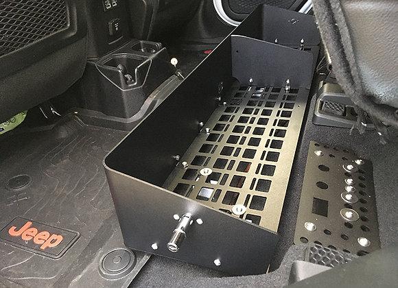 Under Seat Storage Bin - Solid Front / MOLLE Base