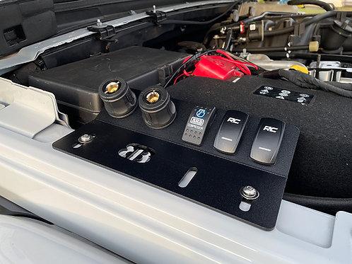 XL UnderHood Triple Rocker Switch / Dual Air Coupler Plate
