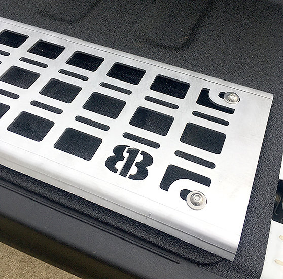 Jeep Gladiator Tailgate Molle Panel - Raw Aluminum