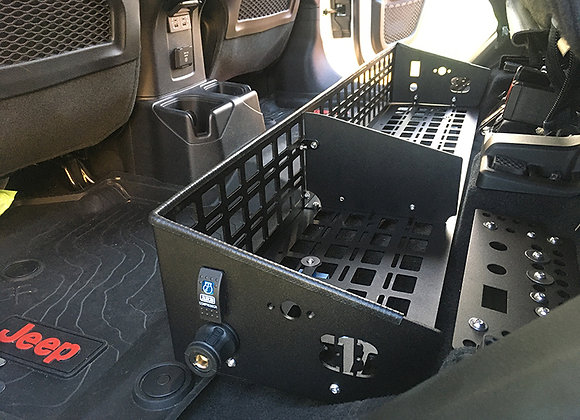 Under Seat Storage Bin - Full MOLLE Front and Base
