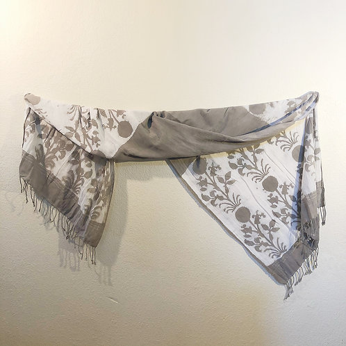 Gray cotton shawl