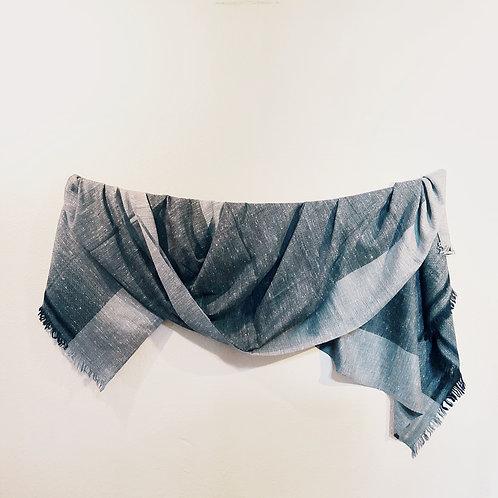 Gray silk angora shawl