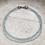 Thumbnail: Aquamarine triple strand silver necklace