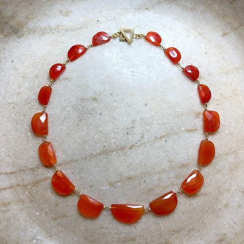 Carnelian gold necklace