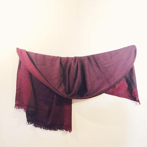 Red silk angora shawl