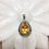 Thumbnail: Citrine silver pendant with jali work
