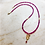 Thumbnail: Ruby necklace with diamond and gold