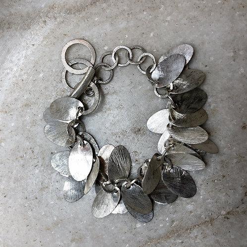 Falling chimes silver bracelet
