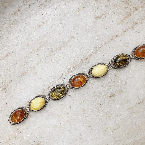 Amber link bracelet