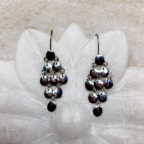 Ripe fruit silver earrings