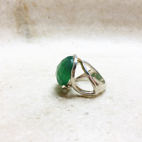 Serpentine silver ring