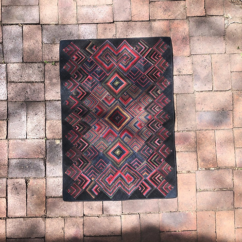 Squares into squares apron art tapestry