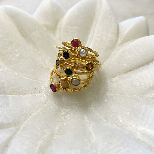 Navaratna gold ring set