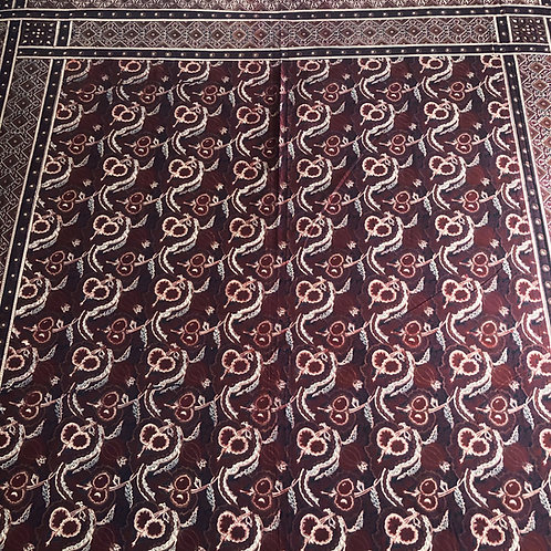 Brown print cotton tapestry