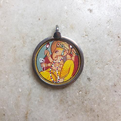 Small Ganesh silver pendant
