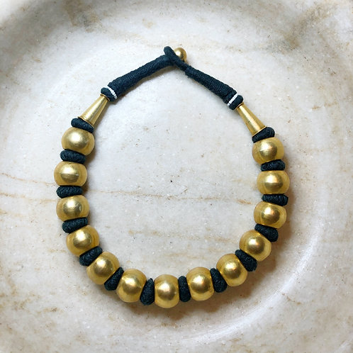 Braided gold Rajasthani necklace
