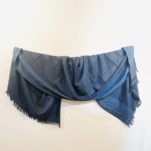 Deep blue silk angora shawl