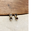 Thumbnail: Double polki diamond gold post earrings