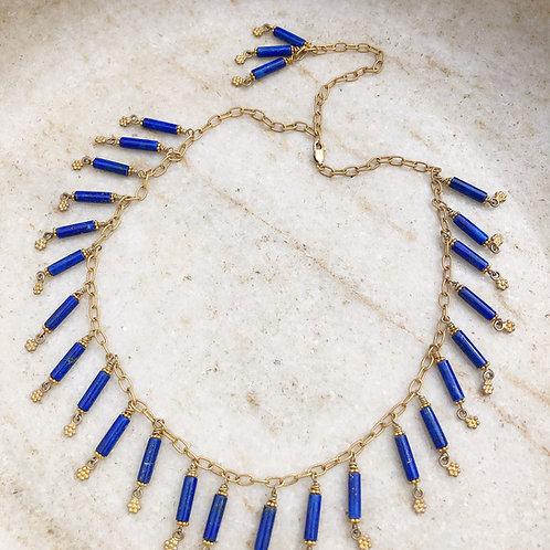 Lapis gold necklace