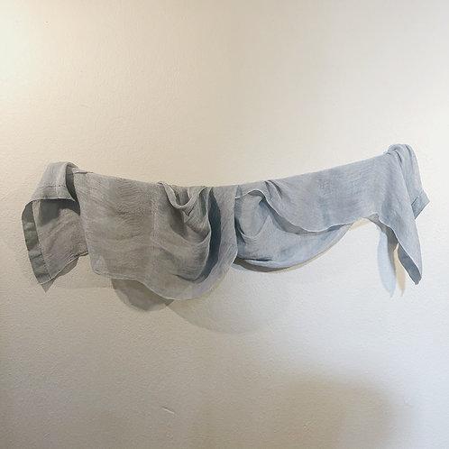Light blue linen scarf