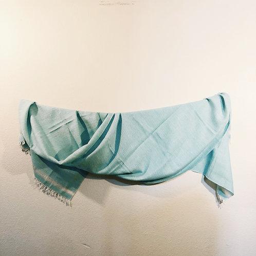 Lime green angora wool shawl