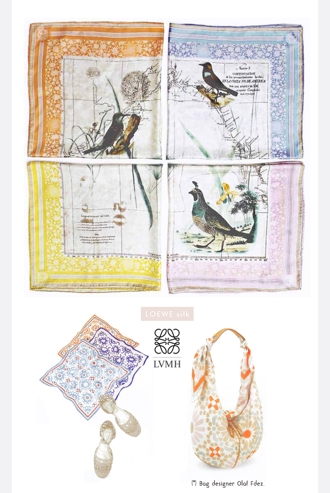 #chioleon for Loewe silk accesories