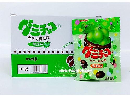 包装明治朱古力橡皮糖(青提) (53gx10包)