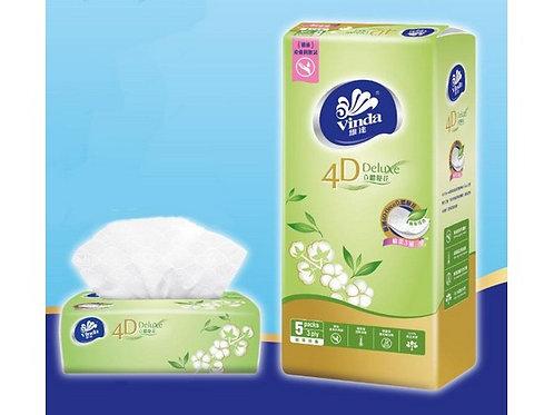 維達4D Deluxe袋裝面紙(綠茶淡香) (5包)