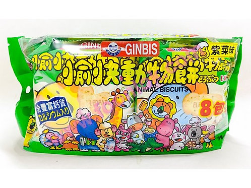 包裝動物餅(紫菜味)1袋x8包