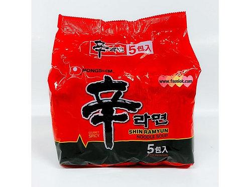農心-辛拉麵 (特辣香菇味) (120gx5包) 香港版
