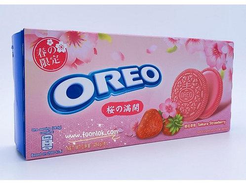 盒裝Oreo夾心餅 (櫻花草莓味)194g