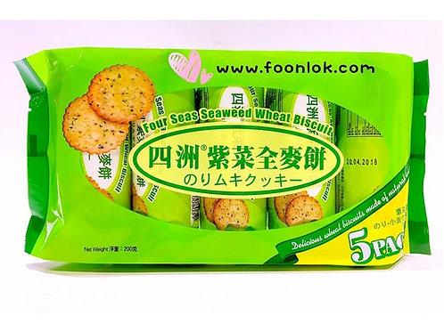 四洲紫菜全麥餅(40gx5包)