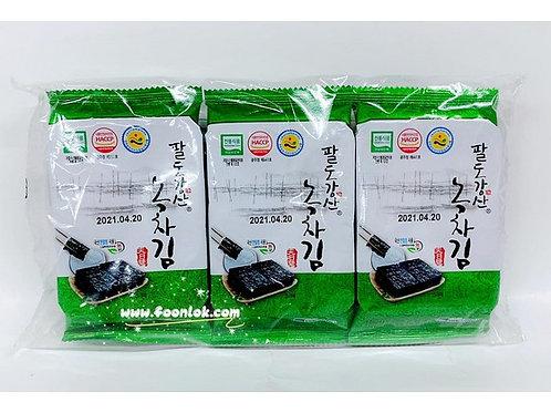 海松韓國綠茶紫菜3包裝(4gx3包)