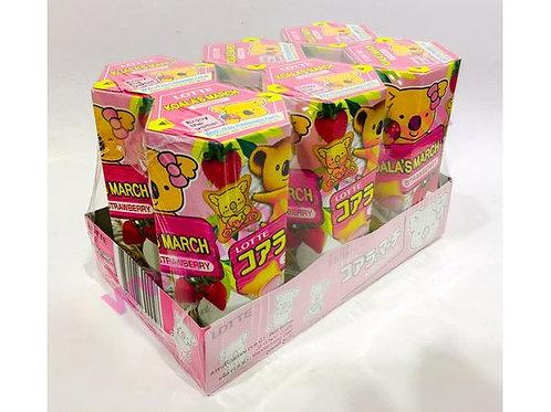 迷你樂天熊仔餅(草莓)37g x 6筒