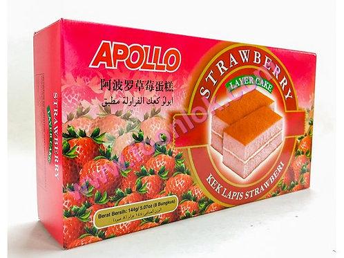 亞波羅蛋糕(草莓)1盒x8包