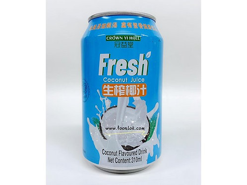 罐裝冠益堂生榨椰汁(310mlx24罐)