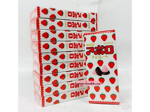 明治亞波羅草莓朱古力 (46gx10小盒)