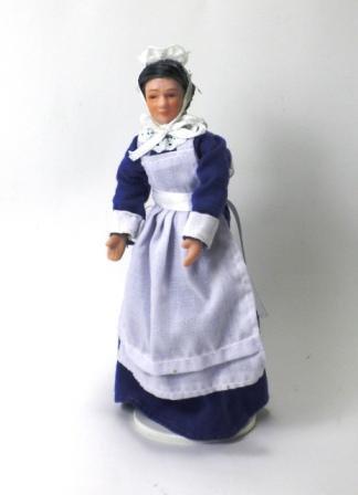 empregada vestido azul