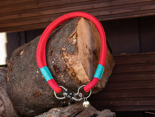 Red & Turquoise Rope Collar
