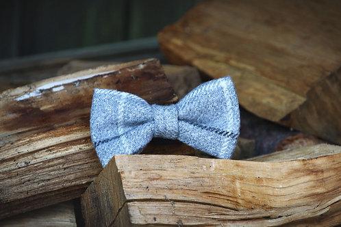 Grey Check  Bow Tie