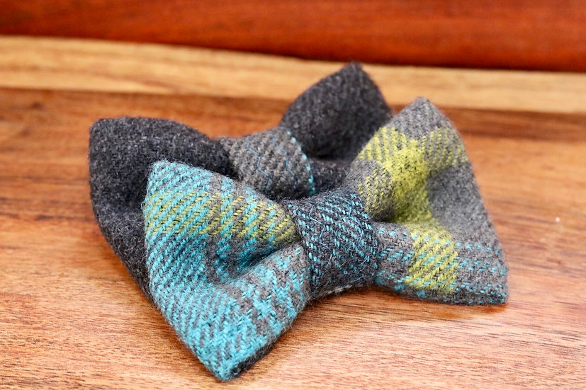 Azure Tartan Bow Tie