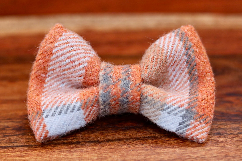 Orange Tartan Bow Tie