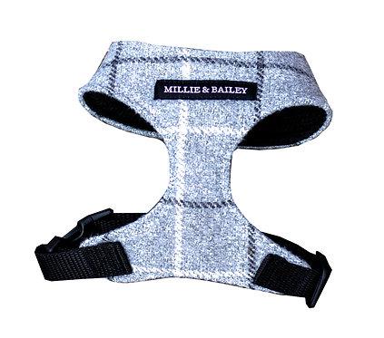 XS Grey Check Harness