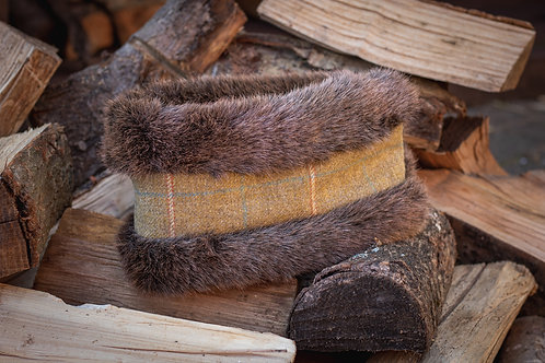 Moss Tweed Head Warmer